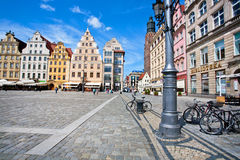 Many bicycles on the main square of historical city Royalty Free Stock Photos