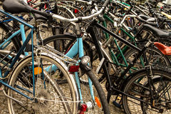 Many bicycles Royalty Free Stock Photography