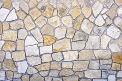 Many Big And Small Flagstones Royalty Free Stock Photo