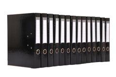 Many the big black folders Stock Photography