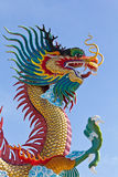 Many big dragons are color. A city is Nakolsawun, Thailand Royalty Free Stock Photo