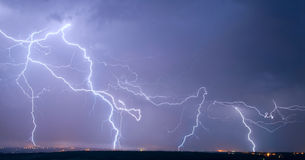 Many big lightning Stock Images