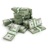 Many Bill stacks. Isolated on white background royalty free stock photo