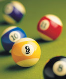 many billiard bolls Royalty Free Stock Image