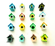 Many Bird Cage. The Many Bird Cage on wall Royalty Free Stock Photo