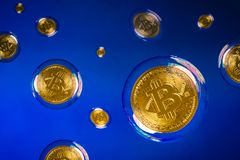Bitcoin bubbles Royalty Free Stock Photo