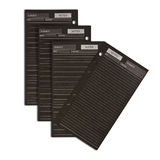Many black business notepaper. On white background Stock Photo