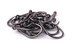 Many black fish hook Royalty Free Stock Photography