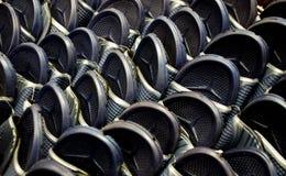 Many black sandals Royalty Free Stock Image