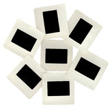 Many black slides with white frames, lightbox. Heap of black slides with white frames, lightbox. New advertise concept Royalty Free Stock Images