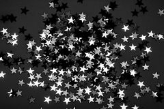 Many black and white stars Royalty Free Stock Images