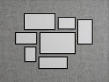 Many blank frame Stock Photos