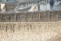 Many Block Walls of Pompeii Royalty Free Stock Photos