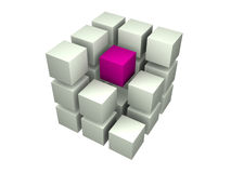 Many blocks. 3d. Beautiful three-dimensional graphic object Stock Image