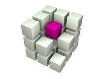 Many blocks. 3d. Beautiful three-dimensional graphic object vector illustration