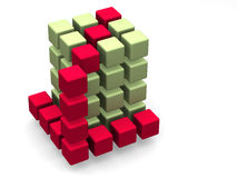 Many blocks. 3d. Very beautiful three-dimensional graphic illustration Royalty Free Stock Photos
