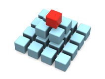 Many blocks. 3d isolated object Stock Images