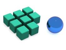 Many blocks. 3d isolated object stock illustration