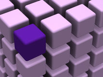 Many blocks. Very beautiful three-dimensional graphic object. many blocks 3d Stock Images
