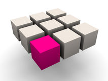 Many blocks Stock Image