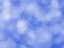 Many blue abstract square pixels backgrounds Stock Image