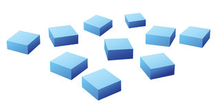 Many blue cubes Royalty Free Stock Photography