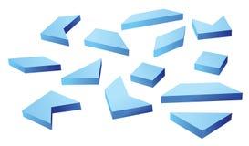 Many blue geometrical figures Stock Photos