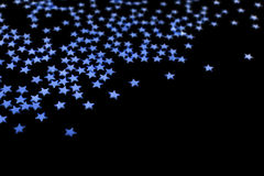 Many blue stars stock image