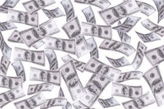 Free Many Blur Dollars Float In The Air. Royalty Free Stock Photos - 95835868