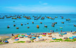 Many boats at fishing village Royalty Free Stock Photography