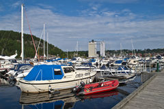 Many boats in the harbor Royalty Free Stock Photography