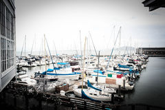 Many boats Royalty Free Stock Image