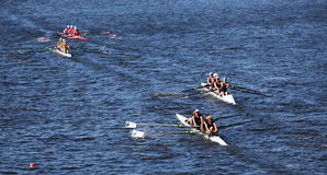 Many boats race in HOTC Royalty Free Stock Photography