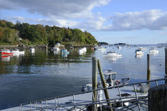 Many boats in the Rockport Marine Harbor Royalty Free Stock Images