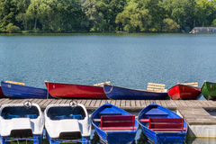 Many boats in a summer day, Maschsee, Hannover Stock Images