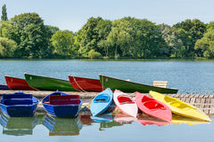 Many boats in a summer day, Maschsee, Hannover Stock Image
