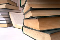Many books. An image wit many books Stock Photo