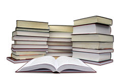 Many books. On the white Stock Photography