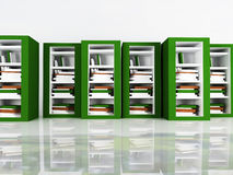 Many books in the bookcases Royalty Free Stock Photo