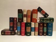 Many books. Large library of book Stock Photo