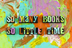 So many books little time stock images