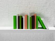 Many books on the shelf. 3d rendering Stock Image