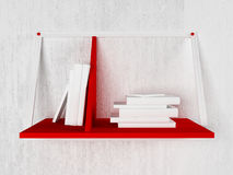 Many books on the shelf, 3d. Rendering Stock Photography