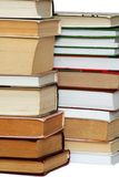 Many books in stacks Royalty Free Stock Images
