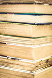 Many books standing in a row isolated Royalty Free Stock Photo