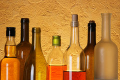 Many bottles of alcohol Royalty Free Stock Images