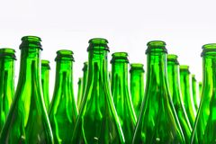 Many bottles on conveyor belt Royalty Free Stock Photo