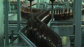 Glass bottle factory in Tyumen. Russia stock video footage