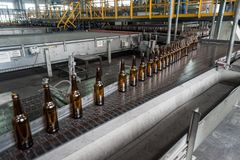 Glass bottle factory in Tyumen. Russia Stock Photo