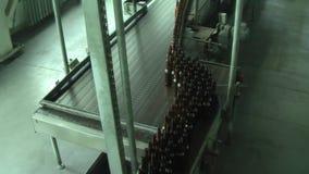 Glass bottle factory in Tyumen. Russia stock footage